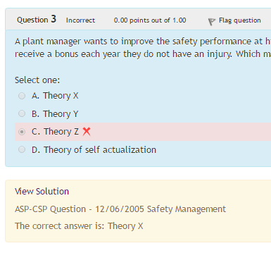 answered question solution