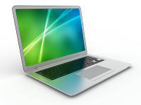 laptop green blue screen 200